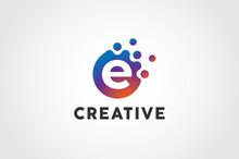 Initial Letter E Logo, Circle ...