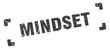 mindset stamp. square grunge sign isolated on white background