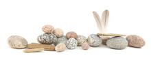 Sea Smooth Oval Pebbles, Drift...