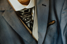 Detail Of A Shirt And Tie. Lig...