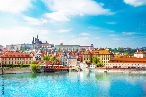 View of the Prague Castle and St Canvas Print
