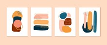 Set Of Cards, Posters, Backgrounds With Abstract Compositions. Contemporary Art Design.