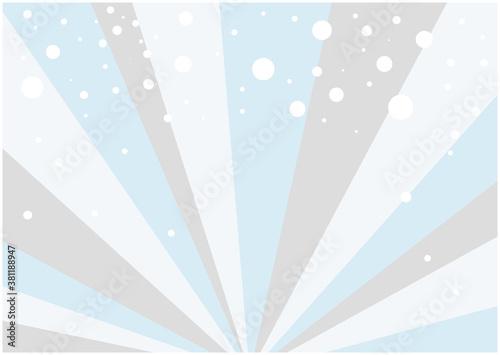 Fotografía 冬をイメージした放射状に広がる背景と雪のイラスト素材