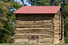 Vintage Pioneer Era Log Smokehouse.
