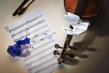 Violin And A Sheet Of Music Wi...
