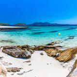 Fototapeta Kawa jest smaczna - Platja de Formentor - beautiful beach at cap formentor, Mallorca, Spain