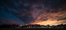 Dramatic Sunset Sky Above A Ro...