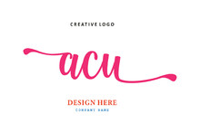 Pharmacy Letter ACU Logo Is Si...