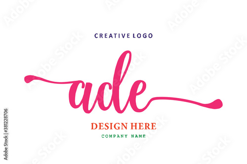 Photo pharmacy letter ADE logo is simple, easy to understand and authoritative