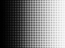 A Black And White Halftone Dot...
