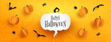 Happy Halloween Sale Banner Ba...