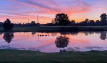 Colorful Sunrise Over Golf Cou...