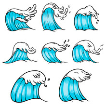 Illustration Of Sea Waves In E...