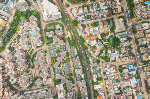 Amazing aerial view cityscape of Kowloon Tong, residential district of Hong Kong Canvas-taulu