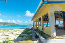 Damage Abandon Homes As A Result Of Hurricanes And Storms Hitting The Caribbean Island Of St.Maarten