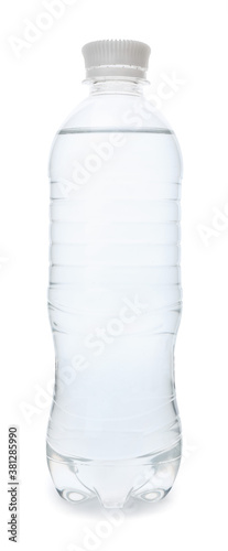 Photo Bottle of clean water on white background