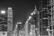 Skyline of midtown of Hong Kong city at night