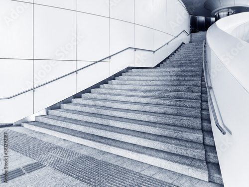 Fotomural Interior view of stairway in modern architecture