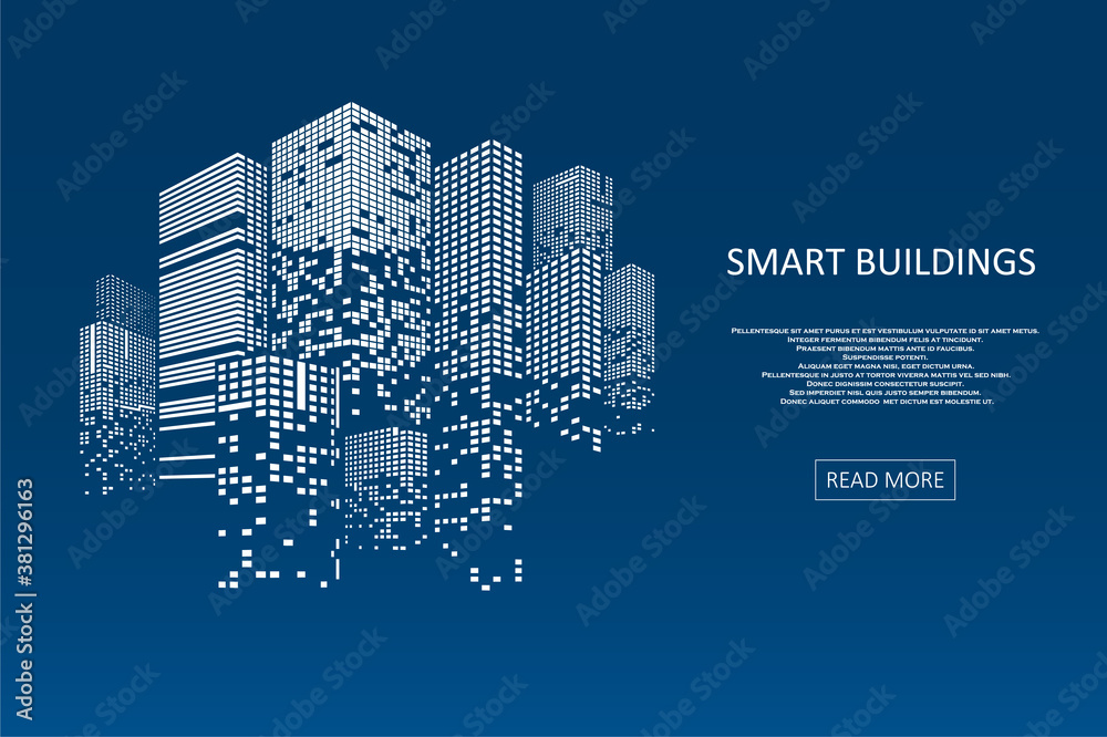Fototapeta Smart building concept design