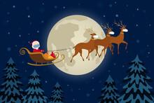 Santa Claus In Face Mask Flyin...