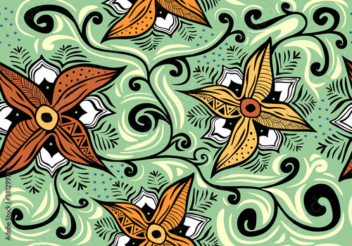 Vintage decorative elements Wallpaper Mural