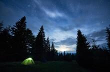 Beautiful View Of Night Starry...