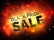 canvas print picture 3D Black Friday space scene background