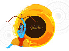 Happy Dussehra Font With Hindu...