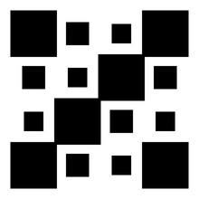 4x4 Cube, Square Geometric Arrangement. Square Illustration