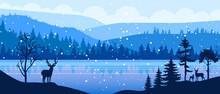 Winter Panoramic Vector Landsc...