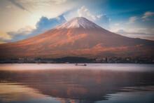Mt. Fuji Over Lake Kawaguchiko...