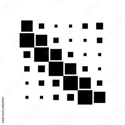 6x6 cube, square geometric arrangement. Square illustration Wall mural