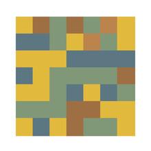 7x7 Cube, Square Geometric Arrangement. Square Illustration