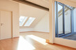 Bright sunny top floor apartment with empty space
