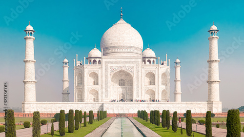 Taj Mahal - Monument in Agra, Indien Canvas
