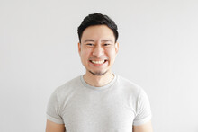 Smile Face Of Happy Asian Man ...