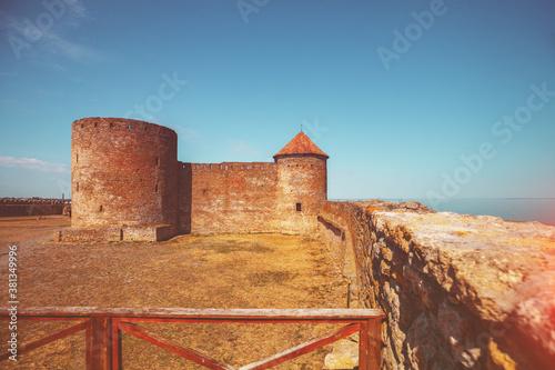 Foto Ancient Akkerman fortress in Bilhorod-Dnistrovskyi city in Odessa region