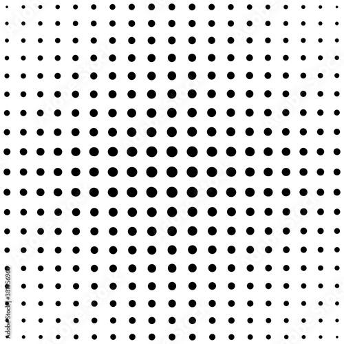 Photo Black dots on white background
