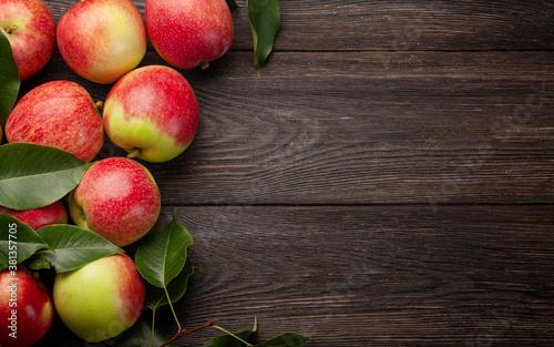 Fototapeta Ripe garden apple fruits obraz