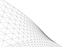 Abstract Wired Geometric Shape...