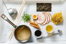 Ingredients For Ramen,  Top View