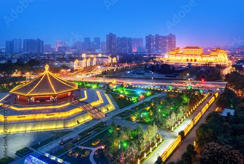 Fotografia Panorama of Sui and Tang Dynasty Ruins Park, Luoyang City, Henan Province, China
