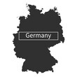 Germany Map - Stock Vector Illustration