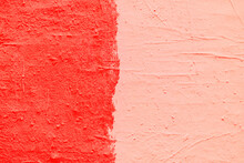 Red Paint Texture. Interior Of...