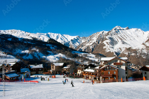 Saint Martin de Belleville Les Trois Vallees 3 Valleys ski area French Alps Fran Canvas-taulu