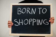 Born To Shopping Written On Bl...