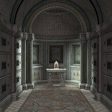 3d Rendered Crypt Interior