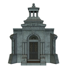 3d Rendered Stone Crypt