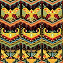 Colorful Ikat Seamless Pattern...
