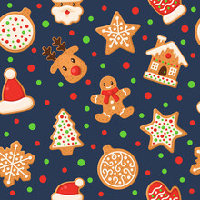 Gingerbread Seamless Pattern. ...